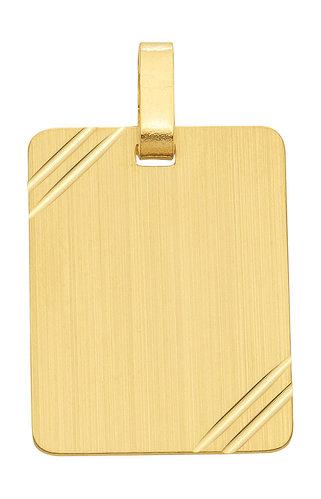 Große 333 Gold Gravurplatte Kettenanhänger 18,2x22,9mm