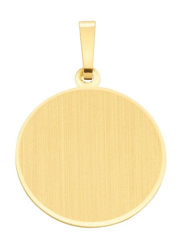 Runde Gold Gravurplatte als Kettenanhänger 19,1 mm
