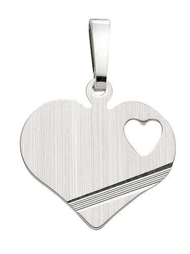 925 Silber Herz 16,9 x 14,9 mm mit ausgeschnittenen Herz