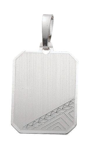 925 Silber Gravurplatte 13,9x17,5mm