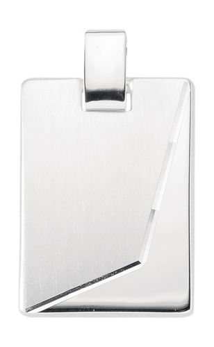 925 Silber schwere Gravurplatte 17,8 x 25,1 mm