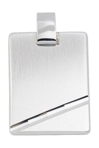 schwere Silber Gravurplatte 18,2 x 24,8 mm