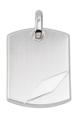 925 Silber massive Gravurplatte 19,5x27,3 mm