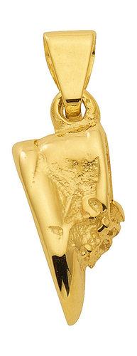 Süßer Babyschuh Kettenanhänger in 333 Gold