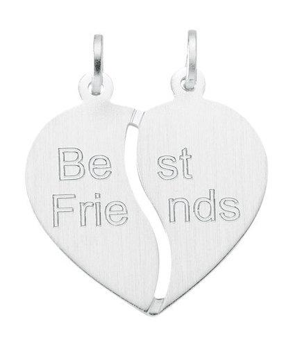 Best Friends Kettenanhänger Herz in Silber