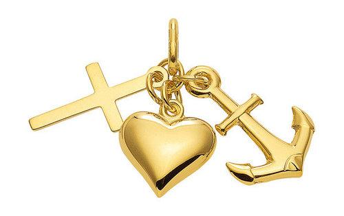 """585 Gold """"Glaube Liebe Hoffnung """""""