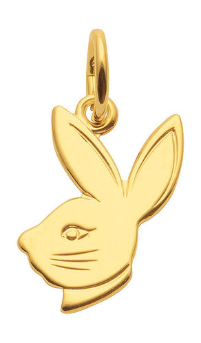 Hasenkopf Bunny Anhänger in 333 Gelbgold