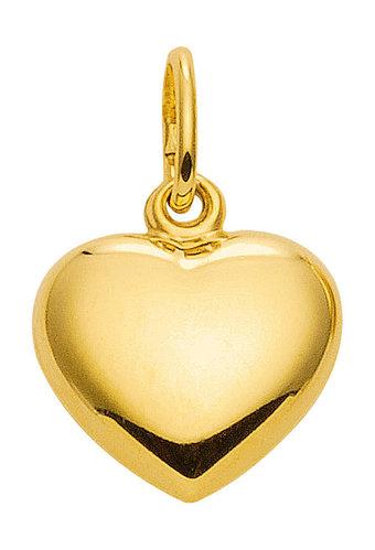 Kleiner goldener Herz Kettenanhänger  8,4x7,6 mm