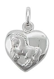 Ein Herz für Pferde Kettenanhänger in 925 Silber
