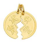 Partneranhänger in Gold Medaille zum teilen