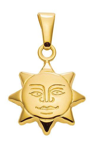 Sonnen Kettenanhänger in 333 Gelbgold