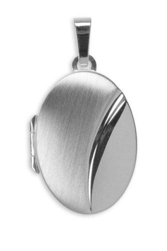 Medaillon in teilweise mattierten 925 Silber