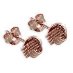 Knoten Ohrstecker in rosé vergoldeten 925 Silber