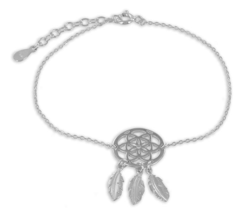 925 Silber Armband Traumfänger