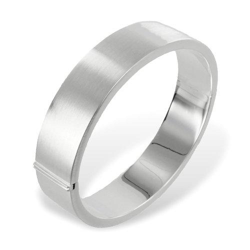925 Silber Armreif seidenmatt 14 mm breit