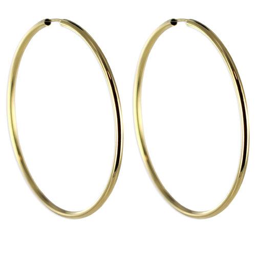 Top aktuelle dünne 6 cm Gold Creole 2,4 mm