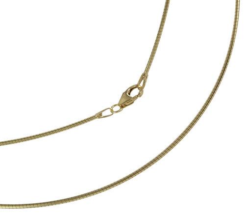 Omega Halsreif in 333 Gold 1,2 mm breit