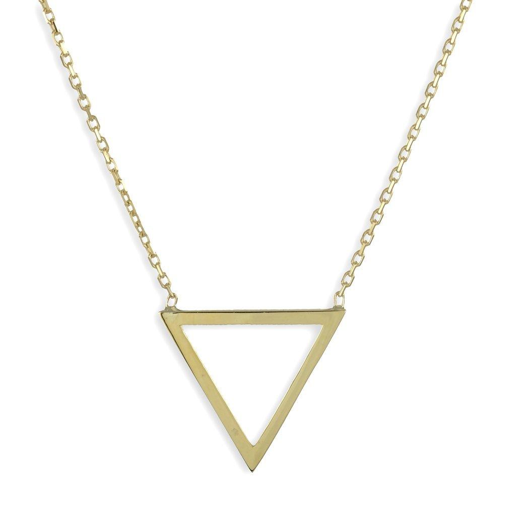 Dreieck Collier in 333 Gelbgold 13 x 13 mm