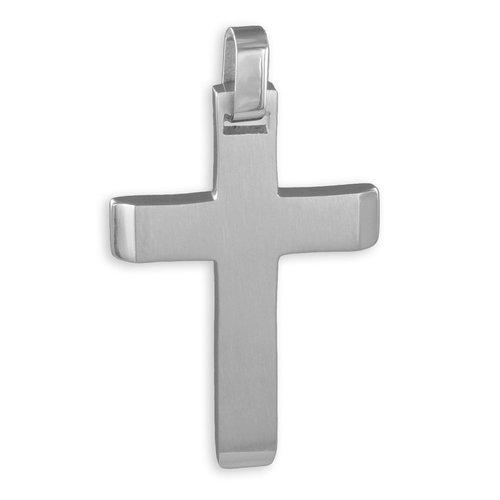 Edelstahl Kreuzanhänger 41 mm Länge