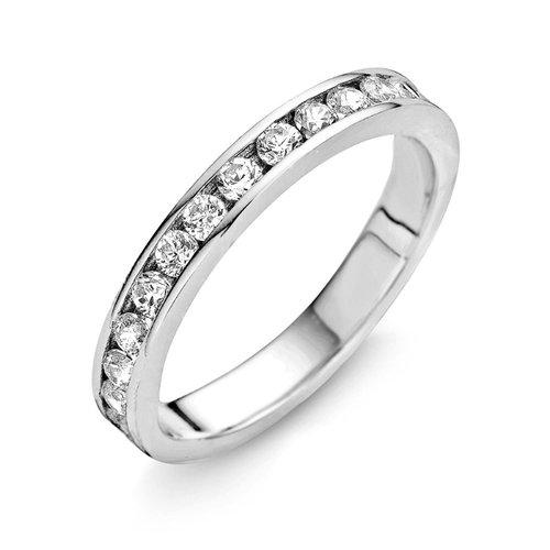 Memory Ring mit Zirkonia 925 Silber