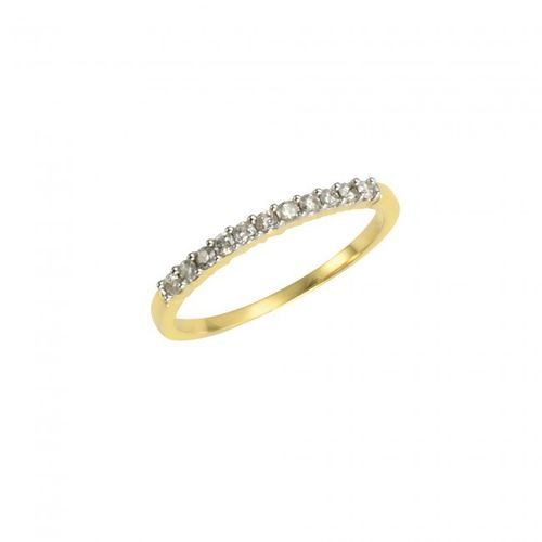Memoiring in 585 Gold mit 0,25 ct Brillant