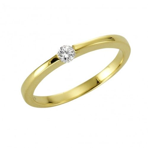 375 Gold Brillantring 0,10 Karat