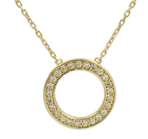 Circle of Life Collier Durchmesser 12 mm 333 Gold